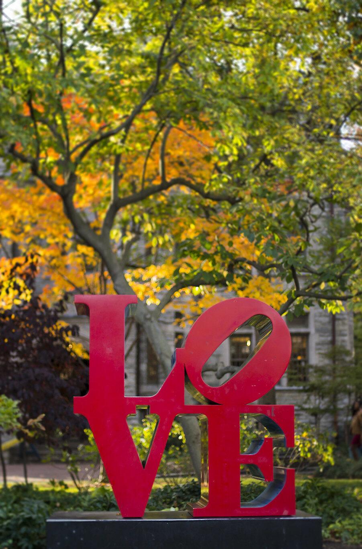 Love Statue Vertical